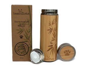 bambuista Bambus Thermobecher mit Teesieb