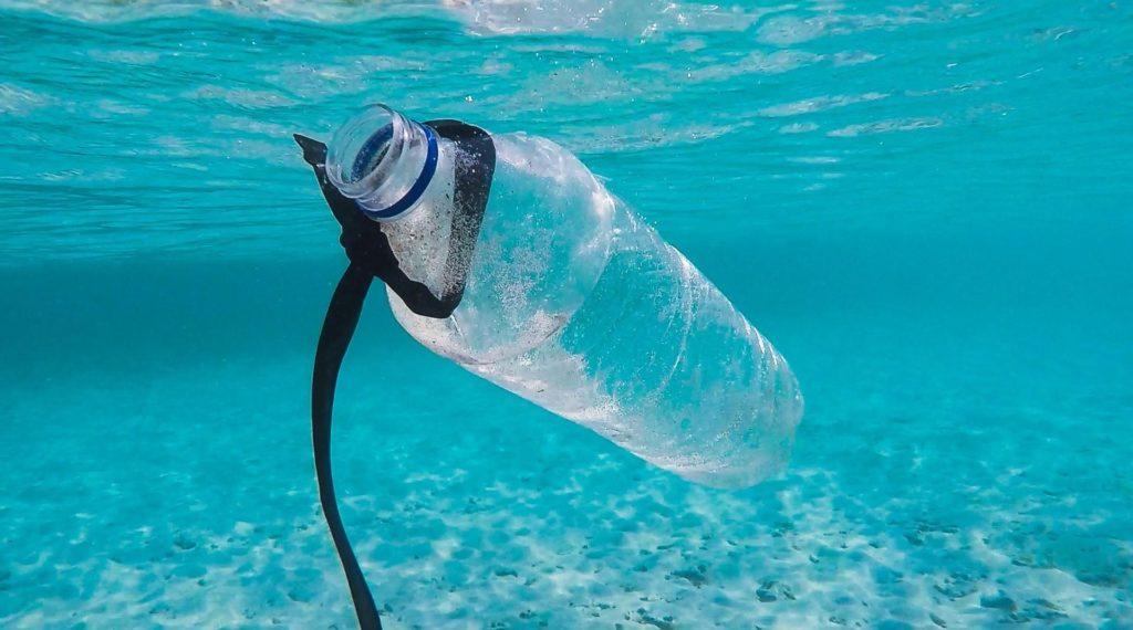 Plastikflasche unter Wasser (Foto: Brian Yurasits)